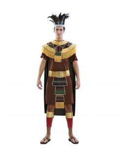 Azteken-Kostüm für Herren Fasching-Kostüm braun-gold