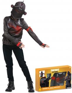 Black Knight-Kostümkoffer für Jugendliche Fortnite™ Faschingskostüm schwarz-rot