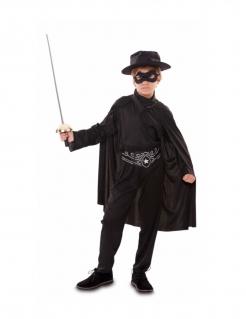 Banditen-Kostüm für Jungen Faschingskostüm schwarz