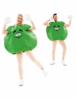 Bonbon-Kostüm für Erwachsene humorvolles Faschingskostüm grün