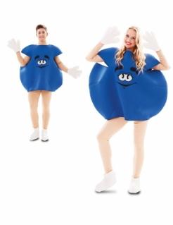 Bonbon-Kostüm für Erwachsene witziges Faschingskostüm blau