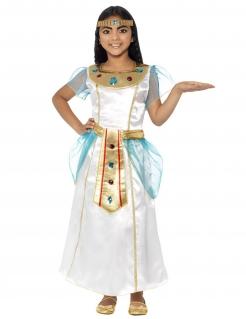 Cleopatra-Deluxekostüm für Mädchen Faschingskostüm weiss-gold-blau