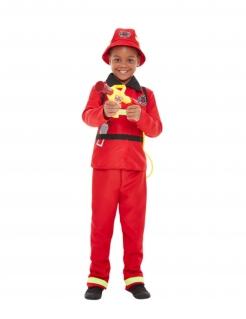 Feuerwehrmann-Kostüm für Jungen Faschingskostüm rot-schwarz