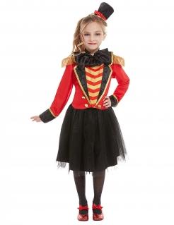 Zirkusdirektor-Kostüm für Mädchen Dompteur rot-gold-schwarz