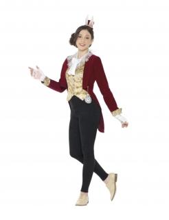 Hasen-Kostüm für Jugendliche Vintage rot-gold-weiss
