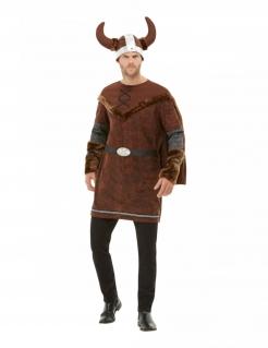 Wikinger-Kostüm für Herren Wikinger-Barbar Faschingskostüm braun
