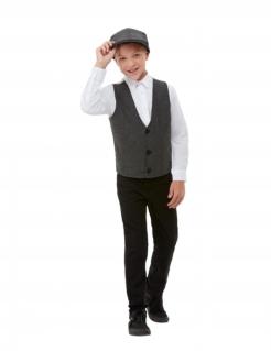 20er Jahre-Kostüm für Jungen 2-teiliges Set Faschingskostüm grau