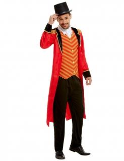 Zirkusdirektor-Kostüm für Herren Faschingskostüm schwarz-rot