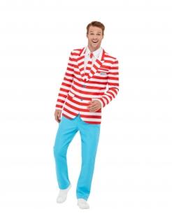 Wo ist Walter™-Kostüm Fasching-Anzug für Herren weiss-rot-blau