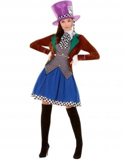 Hutmacherin-Kostüm für Damen Faschingskostüm bunt