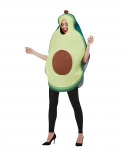 Avocado-Kostüm für Erwachsene Faschingskostüm grün-braun