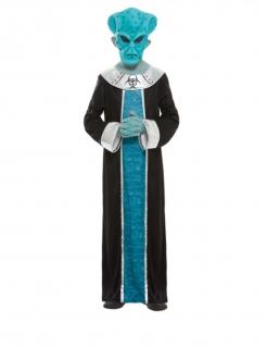 Alien-Kostüm für Kinder blau