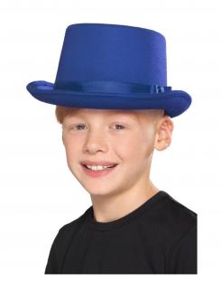 Kinder-Zylinder Zauberer-Accessoire Fasching blau