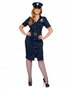 Polizistin-Kostüm für Damen große Größe Faschingskostüm dunkelblau