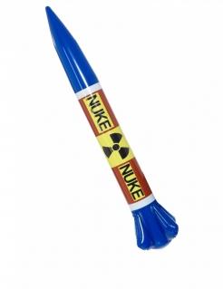 Faltbare Nuklear-Rakete Accessoire blau-gelb 87x13 cm