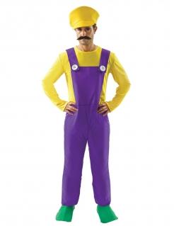 Klempner-Kostüm für Herren witziges Faschingskostüm violett-gelb