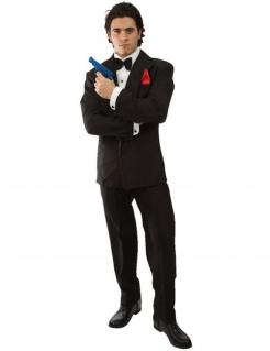 Britischer Spion-Kostüm für Herren Faschingskostüm schwarz-weiss