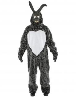 Schauriges Hasen-Kostüm Film-Kostüm Halloween grau-weiss