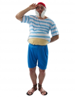 Dicker Kapitän Herrenkostüm Faschingskostüm blau-weiss