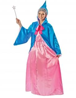 Alte Fee-Kostüm für Damen Faschingskostüm rosa-blau