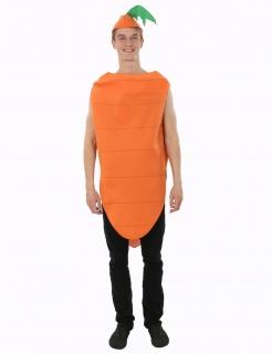 Karottenkostüm für Erwachsene orangefarben-grün