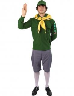 Pfadfinder-Kostüm für Herren Faschingskostüm grün-grau-gelb