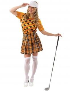 Golf-Spielerin-Kostüm für Damen Faschingskostüm orange