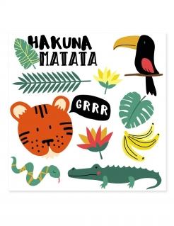 Klebe-Tattoos für Kinder mit Tiernmotiven