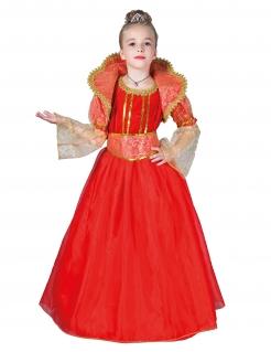 Rote Königin-Kostüm für Mädchen Faschingskostüm rot-gold