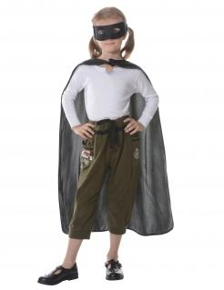 Superhelden-Zubehörset für Kinder 2-teilig schwarz