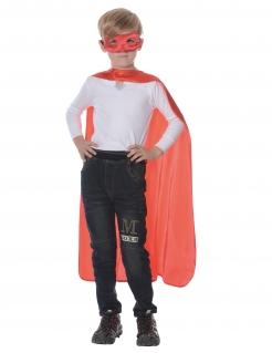 Superhelden-Accessoire-Set für Kinder Faschingsaccessoire 2-teilig rot