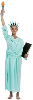 Freiheitsstatue-Kostüm für Damen Faschingskostüm hellblau