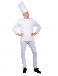 Französisches Chefkoch-Kostüm für Herren Faschingskostüm weiss