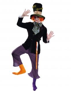 Verrücktes Hutmacher-Kostüm für Herren Faschingskostüm lila-schwarz