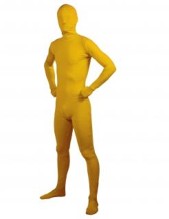Second Skin-Anzug für Erwachsene Faschingskostüm gelb