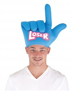 Loser-Hut witziges Accessoire USA-Party blau