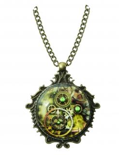 Steampunk-Halskette Accessoire Schmuck bronze