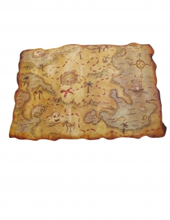 Schatzkarte Piraten Partydeko braun 29 x 45 cm