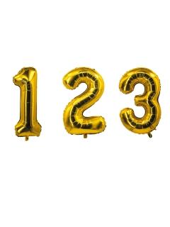 Nummern-Folienballons goldfarben 0-9 85 cm