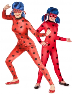 Ladybug™ Paarkostüm Mutter und Tochter rot-schwarz
