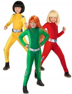 Spionin-Gruppenkostüm für Mädchen Faschingskostüm grün-gelb-rot