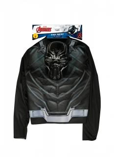 Offizielles Black Panther™-Kostüm für Jungen mit Maske Avengers™ schwarz