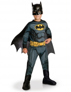 Mutiges Batman™-Kinderkostüm Justice League™ schwarz-gelb