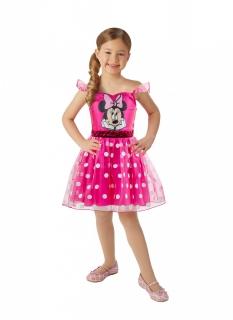 Offizielles Minnie Maus™-Mädchenkostüm pinkfarben-schwarz-weiß
