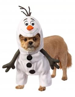 Olaf™-Kostüm für Hunde Frozen™ Faschingskostüm weiss-schwarz