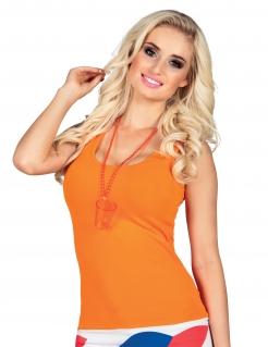 Schnapsglas-Perlenkette JGA-Accessoire orange