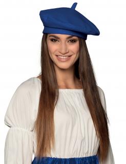 Hübsche Baskenmütze für Erwachsene blau