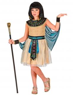 Kleopatra-Kostüm für Mädchen braun-schwarz-türkis
