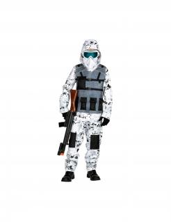 Spezial-Einsatzkommando Kostüm für Jungen Faschingskostüm weiss-grau