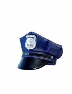 Polizei-Mütze für Kinder Faschings-Accessoire blau-schwarz